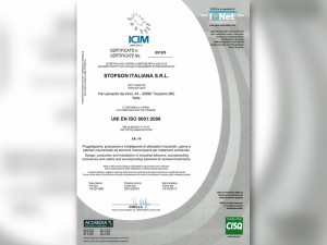 Stopson Italiana ICIM 2014-2017 ISO 9001-2008