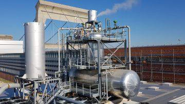 Silenciadores Blow-Off y de ventilación en una instalación de éxito en una industria cartográfica en el norte de Italia