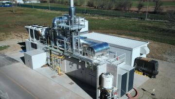 Gabinetes acústicas Stopson Italiana entregadas a la planta de trigeneración en Dovera, norte de Italia